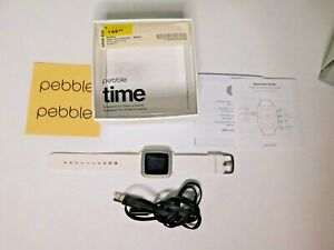 Pebble Time 501-00021 Arctic White Smartwatch for iPhone and Android - Works