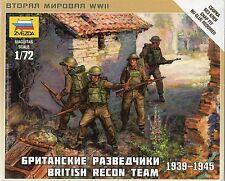 Zvezda 1/72 Figures - British Recon Team 1939 - 1945 Z6226