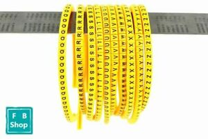 300Pcs U-Z Letter Flexible Print Sleeve Tube Label Network Wire Cable Marker