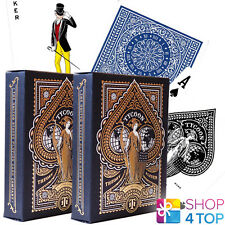 2 DECKS TYCOON BLUE THEORY 11 PLAYING CARDS GOLD MAGIC TRICKS SEALED USA NEW