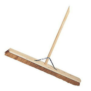 36 Inch Soft Brush Natural Coco Bristle Broom Buy 5+ Brooms Get 10% Off