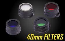 NiteCore 40mm Full Set Of 4 Lens Cap Filter Diffuser for MH27 MH25 SRT7 EA4 EA41