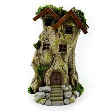 Miniature Dollhouse Fairy Garden - Led Mossy Bark Treehouse - Accessories