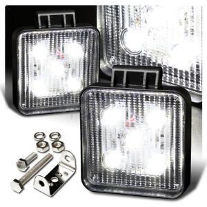 Universal White Square LED 12V 15W SUV Truck Boat Off Road Work Light Bar 2PCS