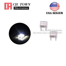 100pcs Flat Top Piranha Super Flux White Light Led Diodes Ultra Bright Bulb Usa