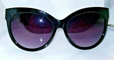 Foster Grant Gloss Black Oversized Cat Eye Sunglasses w Gradient Lens OL1117