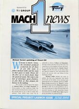 Richard Noble / Andy Green Thrust SSC Land Speed Record 1st Issue of Mach 1 News