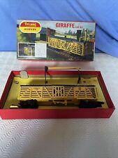 Vintage Triang Hornby OO Gauge R348 Giraffe Car Set, Boxed Trains