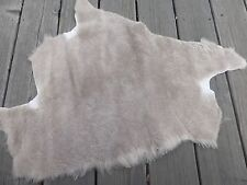 merino sheepskin shearling leather hide Coyote Brown short soft haired