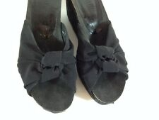 Donald J Pliner MADE ON THE BEACHES OF SPAIN Women's Black Wedge Heels  Size 7M
