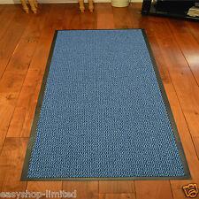 Large Small Kitchen Heavy Duty Barrier Mat Non Slip Rubber Back Door Rugs Dirt Blue/black 120 X 180cm