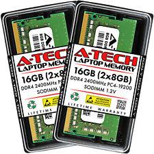 A-Tech 16 ГБ 2x 8 ГБ DDR4 2400 260-Pin для ноутбука PC4-19200 Sodimm Memory Ram комплект 16G