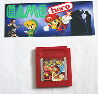 POKEMON RED VERSION WORKING SAVE NINTENDO GAME BOY GAMEBOY COLOR TESTED GENUINE.