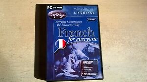FRENCH FOR EVERYONE - PC LANGUAGE TRAINING SOFTWARE - FAST POST - COMPLETE - VGC
