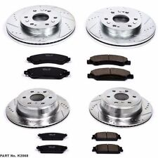 Power Stop K2068 Front & Rear Drilled & Slotted Rotors & Z16 Ceramic Brake Pads