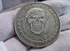 """Hobo Nickel Style Morgan DOLLAR SIZE Silver Clad Coin - Rare Series """"9""""-USA-Nice"""