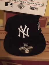 New York Yankees 2000 World Series Patch Low Profile Fitted Hat Cap 7 3/4 NY era