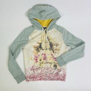 Vintage 2001 Lucky Brand Buddha Cherry Blossom Meditation Zip Up Hoodie Small