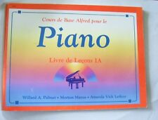 Alfred's Basic Piano Cours De Base Livre de lecons 1A Alfred FRENCH Music Book