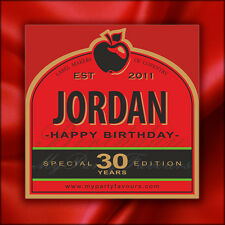 Personalised Cider Bottle Labels (B Berry) - Novelty Birthday Gift - Any Age!