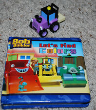 """Bob The Builder HTF 2"""" Trix Forklift Tractor Toy & Lets Find Colors Padded Book"""