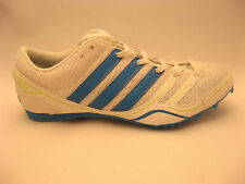 Womens adidas Track Shoes 10 NEW Track & Field Spider W Middle Distance White
