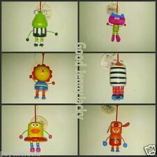 2x Wooden Cartoon Cute Keyrings Best Gift for Kids Color Random