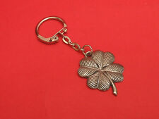 Four Leaf Clover Pewter Key Ring Good Luck Gift Exam Driving Test New Job etc.