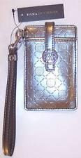 NWT Dana Buchman Silver Pewter Metallic Wristlet Snap Cell Phone Case