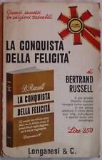 BERTRAND RUSSELL LA CONQUISTA DELLA FELICITA 1967