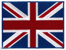 "Union Jack Embroidered Back Patch (20cm x 15cm)  8"" x 6"" LARGE"