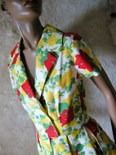 CHIC VINTAGE JOLIE ROBE ANNEES 50 DRESS VTG 50'S ROCKABILLY ZAZOU ABITO (36/38)