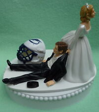 Wedding Cake Topper Tampa Bay Lightning Hockey Themed TB Sporty Reception Sports