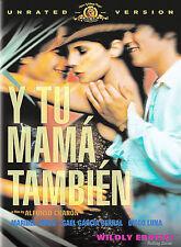 Y Tu Mama Tambien rare Spanish Unrated Sexy dvd Gael Garcia Bernal Diego Luna