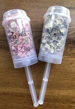 Bride & Groom Confetti Push Pops Biodegradable Petals Petalpops Eco Pink Grey