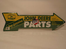 "John Deere Embossed Metal/Tin Sign ""Buy Genuine - Parts"" New Collectible Sign"