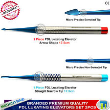 2Pieces PDL Elevators Surgical Luxating Root Periotomes Precise Blue Titanium CE
