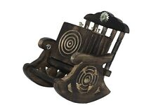 FREE SHIPPING AamiraA Handmade Wooden Square Coasters Rocking Chair (6 Pack)
