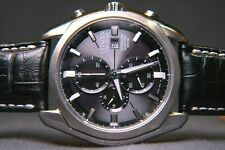 Citizen Eco-Drive Titanium Sapphire Chronograph Watch, Leather Strap GN-4W-S