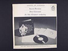 "Mozart, Otto Klemperer Nicolai Ghiaurov  Don Giovanni Vinyl Record PROMO 7"""
