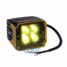 """High Power 16W White 4 CREE LED Car Truck 3x3"""" Cube Spot Light w/ Amber Cover"""
