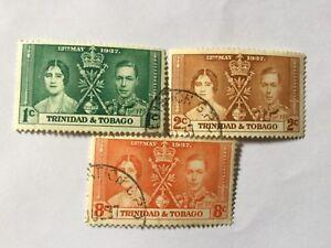 1937 Trinidad Tobago Coronation Complete Set