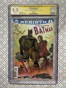 ALL STAR BATMAN #1 CGC 9.9 MINT SIGNED SCOTT SNYDER & DECLAN SHALVEY