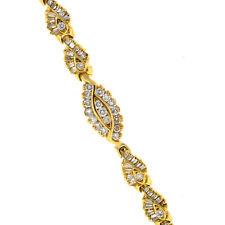 14k Yellow Gold Twist Diamond Tennis Bracelet 5 cts