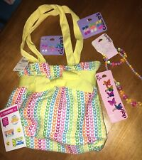 Claire's Butterfly Bag Ring Rose Earring Necklace Justice Sticker Lot Easter