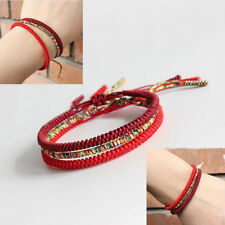 Tibetan Buddhist Handmade Knots Lucky Rope Bracelet Adjustable Size Rope Chain