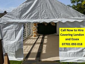 4 X 6m PVC Marquee Hire - Lights, Carpet, Tables, Chairs, Heaters