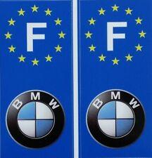 2 Stickers Adhésif Plaque Immatriculation Logo BMW