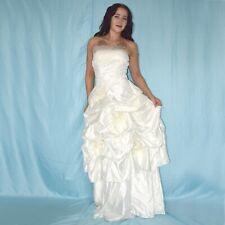 Sin Tirantes Ceñido Vestido de Novia XS Estilo Campana Baile Maxi