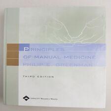 B1 Principles of Manual Medicine by Philip E. Greenman (Hardback, 2003) 3e